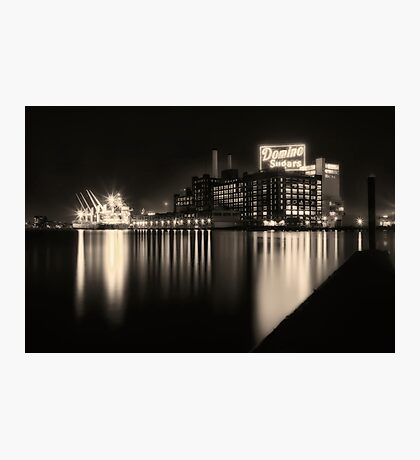 Domino Sugars Factory in Baltimore, Maryland Photographic Print