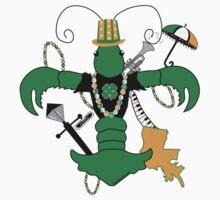 St. Patrick's Day Crawfish Fleur de Lis Kids Clothes