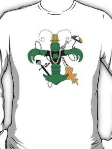 St. Patrick's Day Crawfish Fleur de Lis T-Shirt