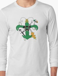 St. Patrick's Day Crawfish Fleur de Lis Long Sleeve T-Shirt