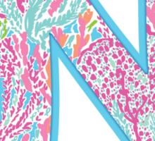 University of North Carolina Lilly Pulitzer Logo Sticker