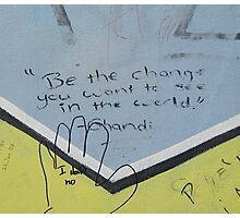 Be the change Photographic Print