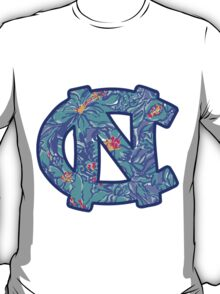 University of North Carolina Blue Lilly Pulitzer Logo T-Shirt