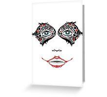 Sugar Harley Skull Greeting Card