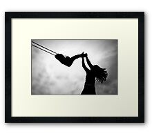 Swing me to the moon! Framed Print