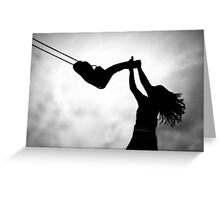 Swing me to the moon! Greeting Card