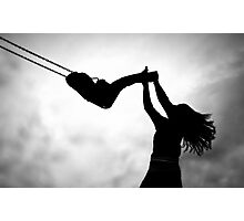 Swing me to the moon! Photographic Print