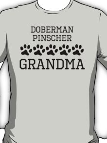 Doberman Pinscher Grandma T-Shirt