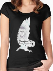 Labyrinth Everything I've Done Owl Women's Fitted Scoop T-Shirt