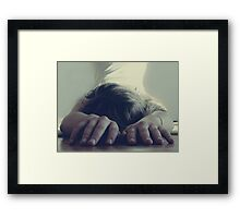 Even Pretty Girls Get the Blues Framed Print