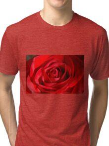 Red Petals Of A Rose Tri-blend T-Shirt