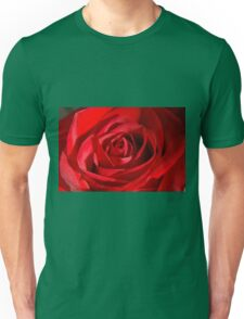 Red Petals Of A Rose Unisex T-Shirt