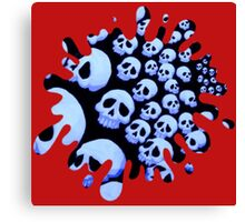 skull splat Canvas Print