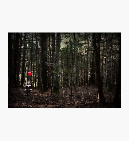 The Little Girl and the Red Balloon Photographic Print