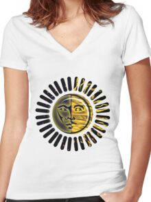 sunny daze Women's Fitted V-Neck T-Shirt