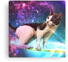 Buster in Space Canvas Print