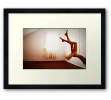 She often found it hard to tell the difference between dreaming and reality... Framed Print