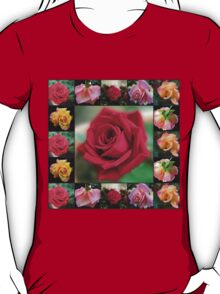 Dreamy Roses Collage T-Shirt