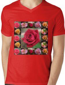 Dreamy Roses Collage Mens V-Neck T-Shirt