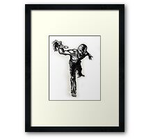 Reaching Zombie Framed Print