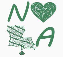 I heart NOLA (Green) Baby Tee