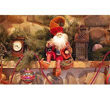 The Christmas Mantel Photographic Print