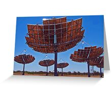 Solar Dishes Greeting Card
