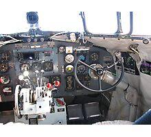 Cockpit C47 (DC3 ) Dakota RAAF Photographic Print