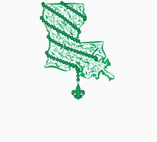 Louisiana State Wrapped in Green Beads Unisex T-Shirt