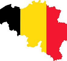 Belgium Flag Map by abbeyz71