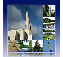Holiness to the Lord - The Preston Temple in Summer Photographic Print
