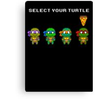 Select Your Turtle (Raphael) - TMNT Pixel Art Canvas Print