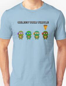 Select Your Turtle (Raphael) - TMNT Pixel Art T-Shirt