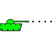 Green 2D TankTrouble Tank by Jonlynch