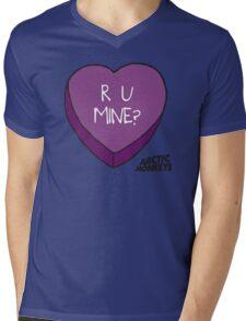 R U MINE? Mens V-Neck T-Shirt
