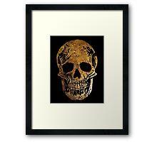 Death by Glamour - Gold Skull Design Framed Print