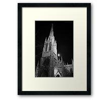Grace Church Full Moon Framed Print