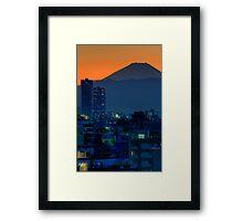 Mount Fuji at sunset; Omori, Shinagawa-ku, Tokyo Framed Print