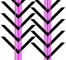 Gebra Offset - Black & Pink on White by cinthdegree