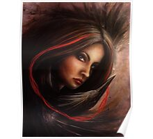 Lifeline - Lady with a Black Heron Poster