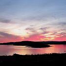 sunset over Skin Island, Marathon Ontario on Lake Superior by loralea
