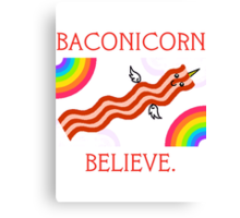 Baconicorn 2 Canvas Print
