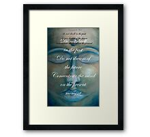 concentrate the mind - buddha © 2008 patricia vannucci  Framed Print