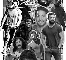 Shia Labeouf B&W Collage by Gregory Wilson