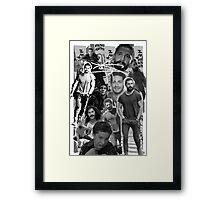 Shia Labeouf B&W Collage Framed Print