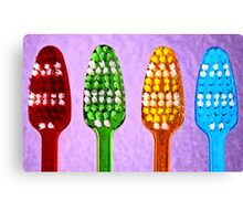 Bright Toothbrushes Canvas Print