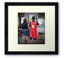 Superheroes Need Breaks Too Framed Print