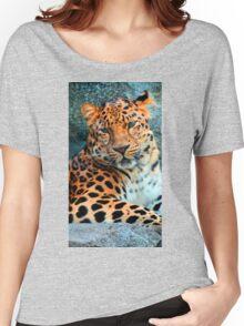 Amur Leopard ~ A Solemn Portrait Women's Relaxed Fit T-Shirt
