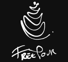 Free Pour - Black and White Edition - Large T-Shirt