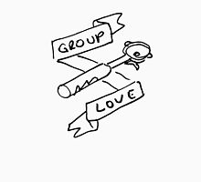 Group Love - Free Draw - Black and White Edition - Back Panel Unisex T-Shirt